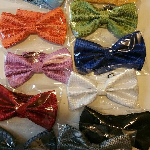 Brand new custom bow tie sold individually,  tell us what color you need when you purchase.