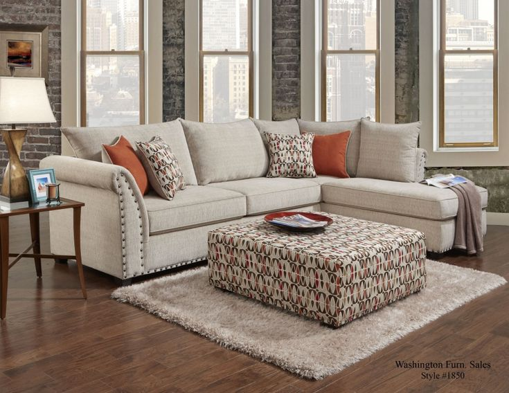 Chelsea Home Furniture Marko Sectional Sofa Beige