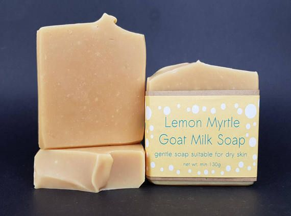 Lemon Myrtle Goat Milk Soap. Gentle and Creamy natural soap with the amazing scent of Australian Lemon Myrtle essential oil.   Check out this item in my Etsy shop https://www.etsy.com/au/listing/540527405/lemon-myrtle-soap-palm-free-soap-goat