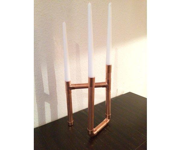 Lysestage, Lysestage lavet af kobberrør!