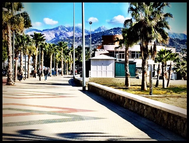 Torre Del Mar Get Away. Daily walks on the four kilometer seaside promenade.