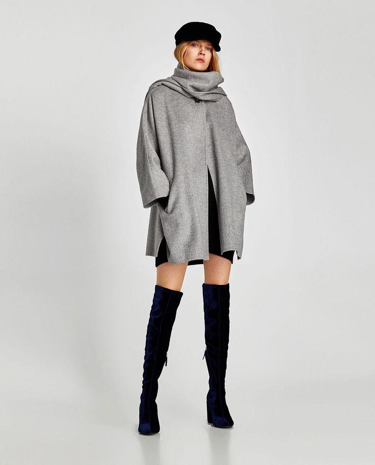 Manteau femme gris clair zara