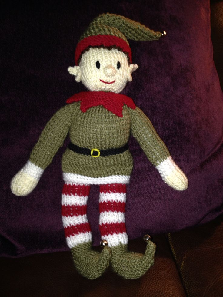 Knitted Elf Pattern : My elf knitted from Zoe Halstead - Bernard the Christmas Elf knitti...