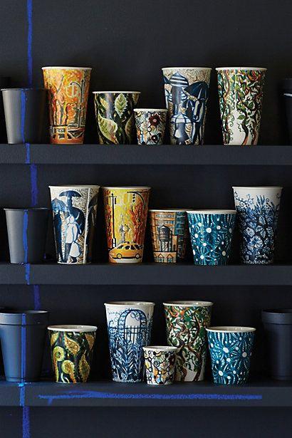 Ceramic Cups in 16 colors #anthrofave