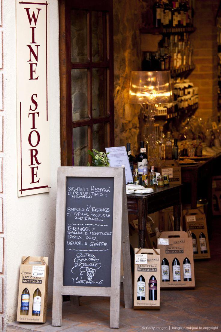 Brunello Wine Shop, Montalcino, Val D'Orcia, Tuscany, Italy