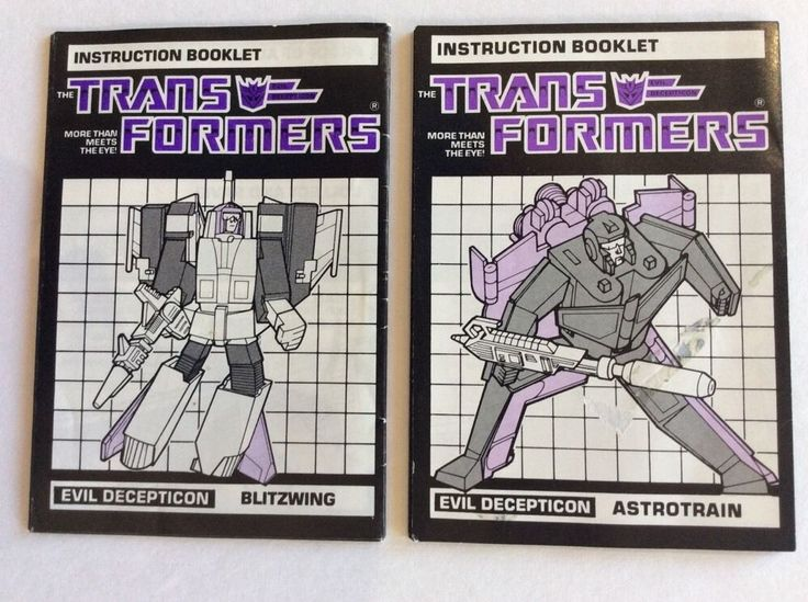 Transformers Original G1 Astrotrain Blitzwing from Instruction Booklets | eBay