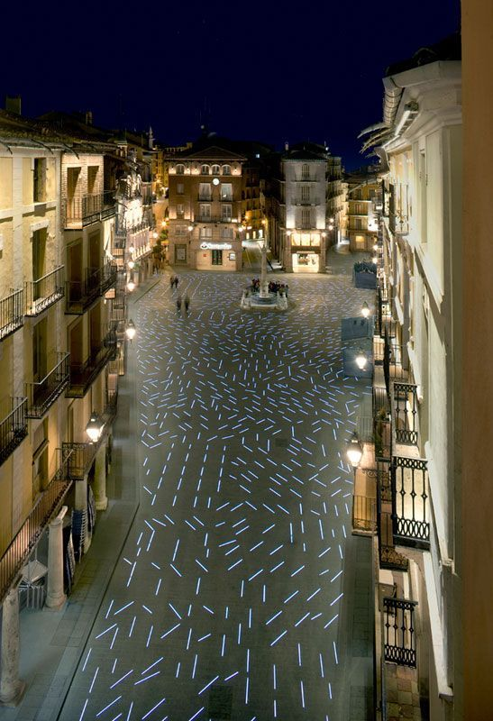 1,230 LED lights adorn the pavement of the Plaza del Torico, Teruel, Spain. Click image for full profile and visit the slowottawa.ca boards >> http://www.pinterest.com/slowotta