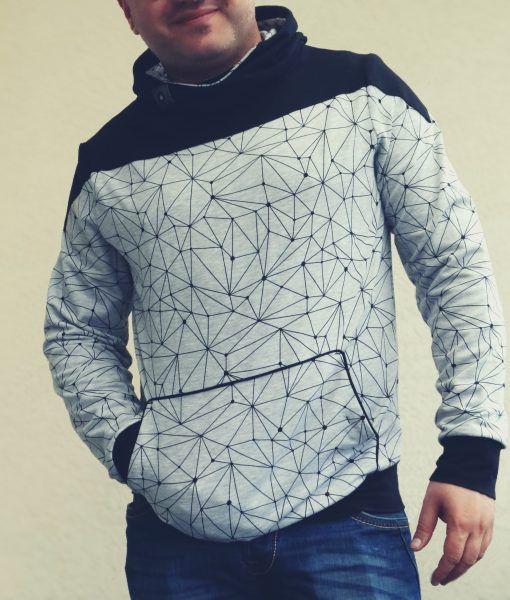 """Ebook """"Saroodo"""" von Sarona homemade - Saroodo ist ein Sweatshirt für Männer in den Größen XS/S bis 3XL/4XL."""