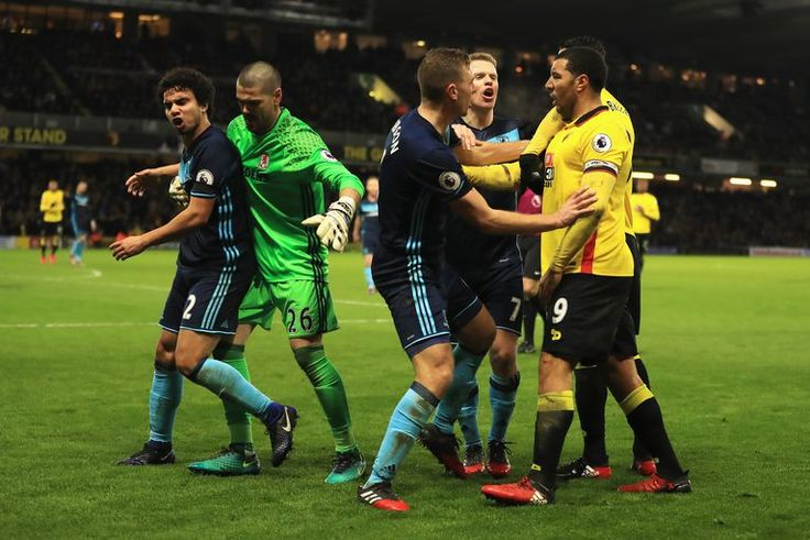 """Watford need a Plan B:   Watford are an incredibly physical team that gives opponents serious problems. Most teams just can't cope with it and they've shot up the table for a reason. But Middlesbrough were able to stand up to them on Saturday and the Hornets slumped to a 0-0 draw. At some point, Watford will need to come up with something other than """"bully the other team"""" because that's their only approach right now.  -    Getty Images Getty Images"""
