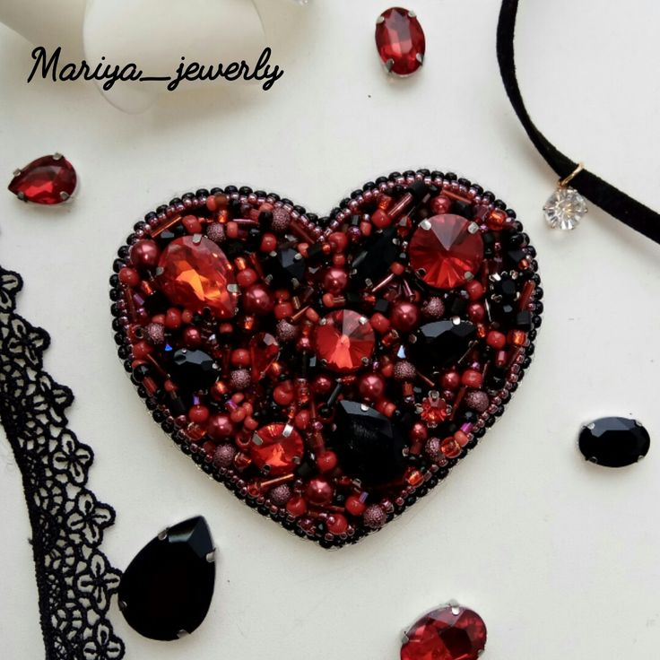 "Брошь ""Сердце"" для очаровательной девушки))@mariya_jewerly"