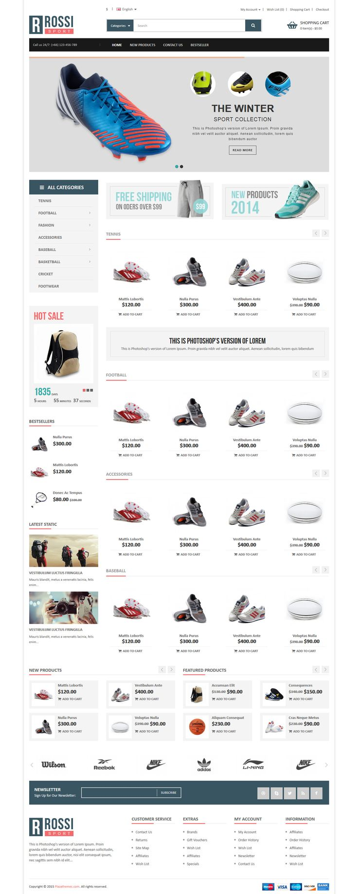 ROSSI - Responsive OpenCart 2 Theme #ecommerce #website Download: http://themeforest.net/item/rossi-responsive-opencart-2-theme/12435784?ref=ksioks