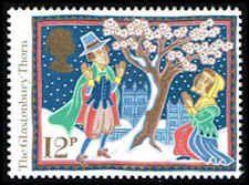 Christmas 1986 Stamp -  Great Britain #1162 Stamp - The Glastonbury Thorn - EU GB 1162-1