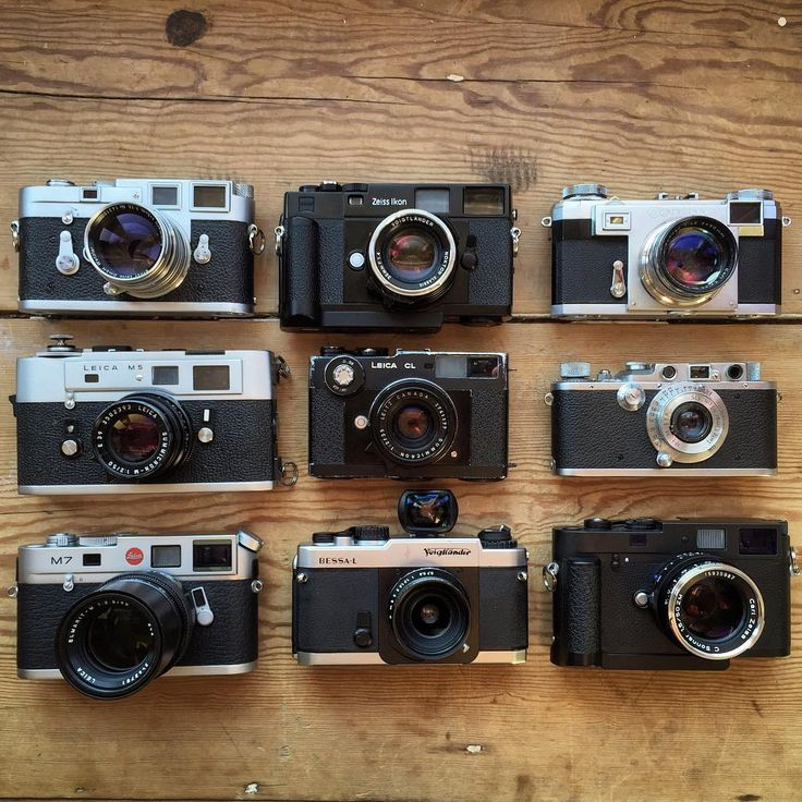 """""""My entire interchangeable lens rangefinder collection: Leica M3 with 50mm 1.5 Summarit  Leica M5 with 50mm 2.0 Summicron Leica M7 with 90mm 2.8 Elmarit-M…"""""""
