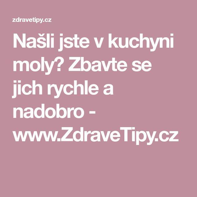 Našli jste v kuchyni moly? Zbavte se jich rychle a nadobro - www.ZdraveTipy.cz