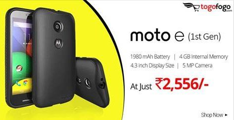 #MotoE (1st Gen) offered by #Togofogo at the cheapest price of Rs. 2,556/- only.Buy Now : http://bit.ly/2qm61vE