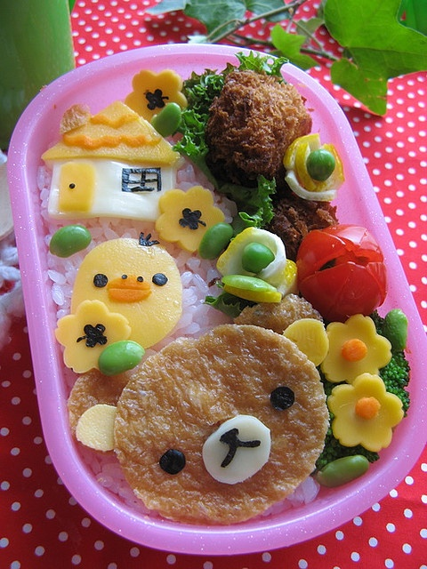 Rilakkuma bento box   #food #bento #rilakkuma