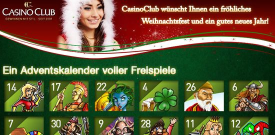 CasinoClub Freispiele Adventskalender