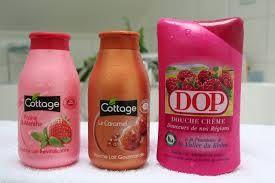 quelle que gel douche pour sentir bon la fraise le caramel et la framboise