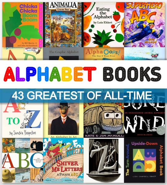 43 greatest alphabet books of all-time.