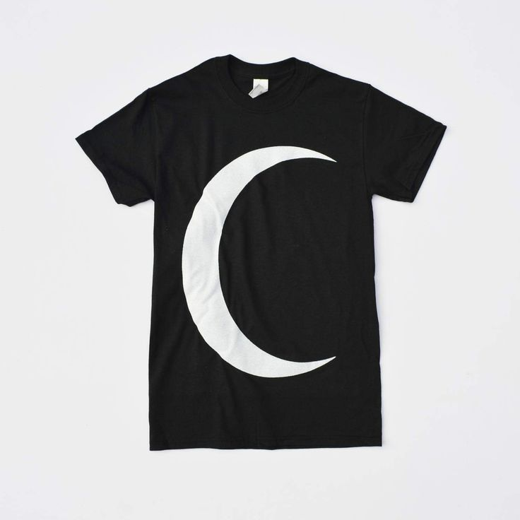Pastel Goth Oversized Crescent Moon on Black T-shirt Hipster Indie Swag Dope Hype Mens Womens Kawaii Clothing Gothic Lunar Moon by IIMVCLOTHING on Etsy