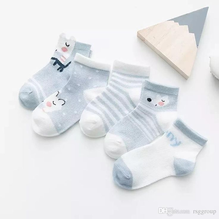 Blue Wholesale Spring Summer Baby Boys Socks Breathable Sports Elastic Knee Socks Fashions Cartoon Fox Cat Bear Rabbit Baby Kids Girls Socks