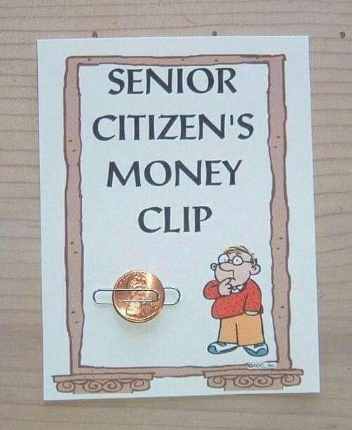 Senior Citizens Money Clip | Best gag gifts, Gag gifts ...