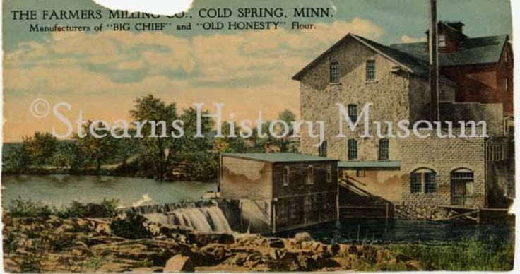 Farmers Milling Co., Cold Spring (MN), ca.1910  #flour #minnesota #historicphoto #mill