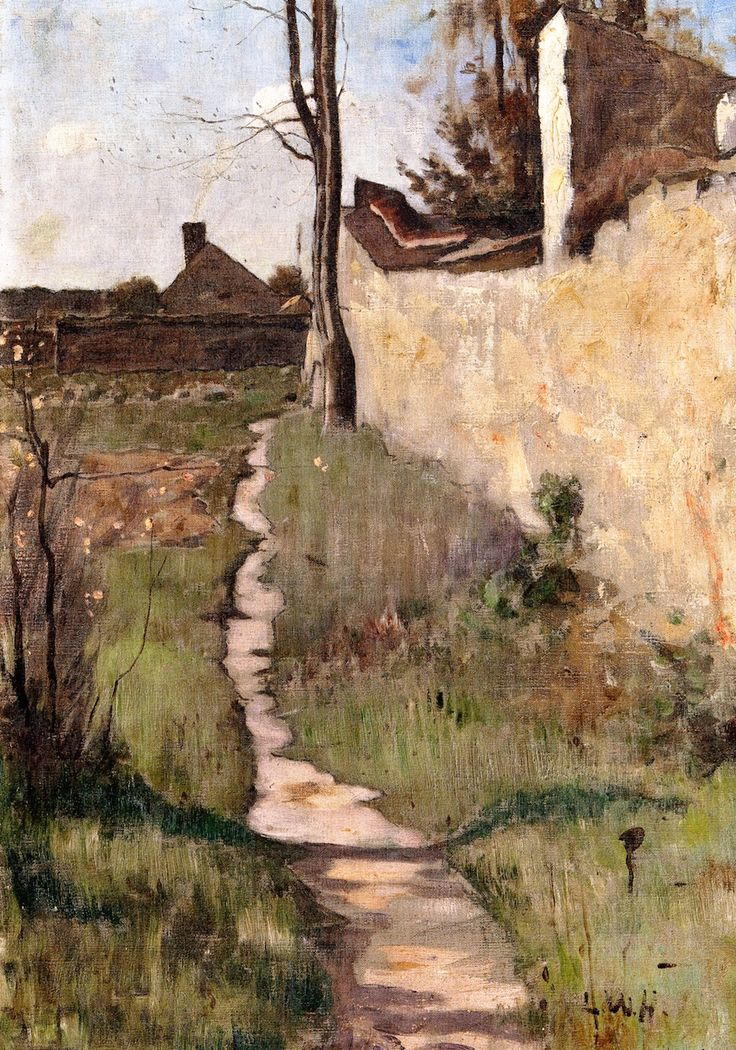 ■ HAWKINS, Louis Welden (French 1849-1910) - A Corner in Barbizon. Circa 1880-1884. Oil on canvas. Height: 57.8 cm Width: 40.6 cm - Owens Art Gallery, Mount Allison University (Sackville, Canada) http://www.mta.ca/owens/index.php ■ Луис Велден ХОУКИНС - Уголок в Барбизоне ■ More information/Подробнее здесь:   (https://kovalcurator.files.wordpress.com/2015/01/hawkins-spreads.pdf)