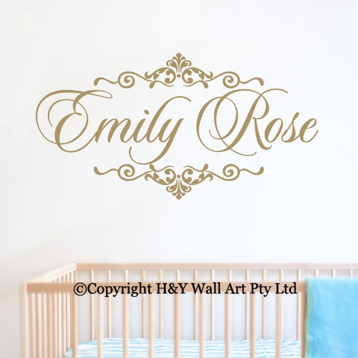 Custom Personalised Name Kids Wall Art StickersArt Nursery Vinyl Decals Decor AU in Baby, Nursery Décor, Wall Décor | eBay!