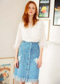 Charlotte denim skirt