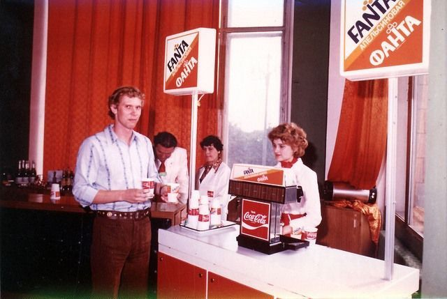 Photo: A young Soviet man buys Fanta - available for the first time in Russia, 1979