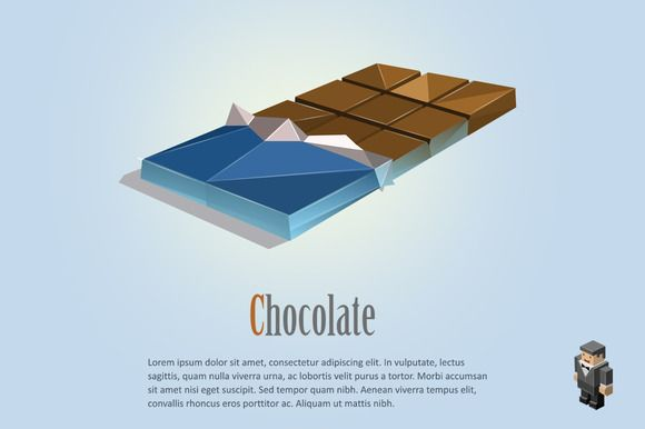 Vector chocolate bar  @creativework247