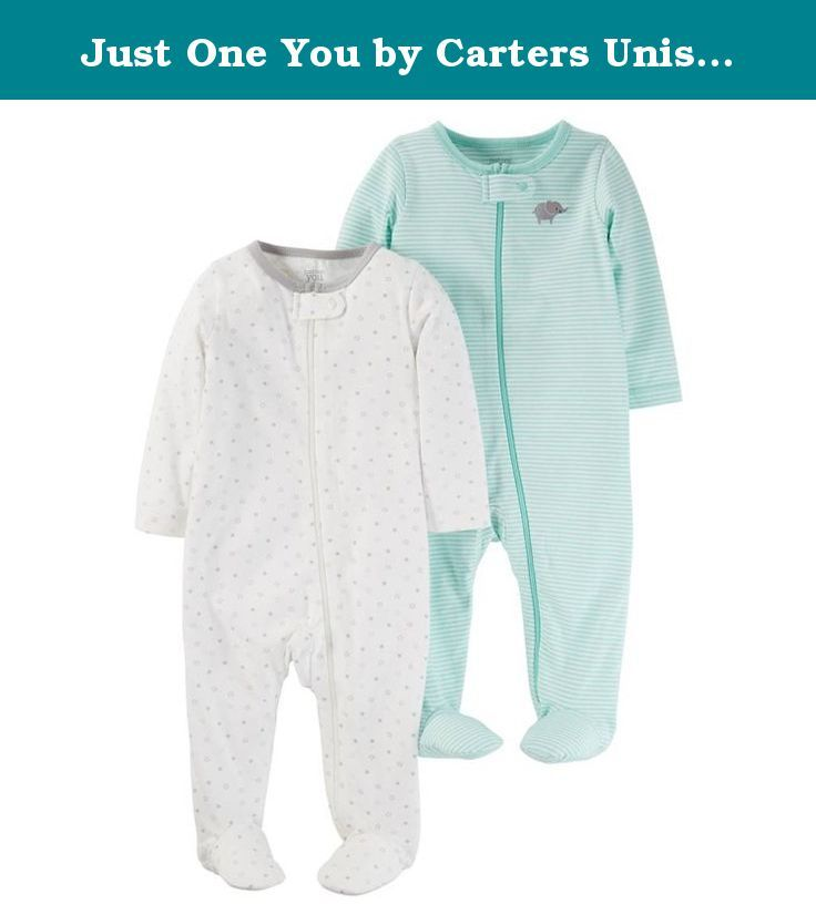 Just One You by Carters Unisex Baby 2 Pack Sleep N Play - Mint (3 Month). Material: 100 % Cotton. Closure Style: Front full length zipper. Care and Cleaning: Machine wash, normal Non chlorine bleach when needed Tumble dry, normal Iron, any temperature, steam or dry; Do not dry clean. Sleeve Length: Long sleeve.