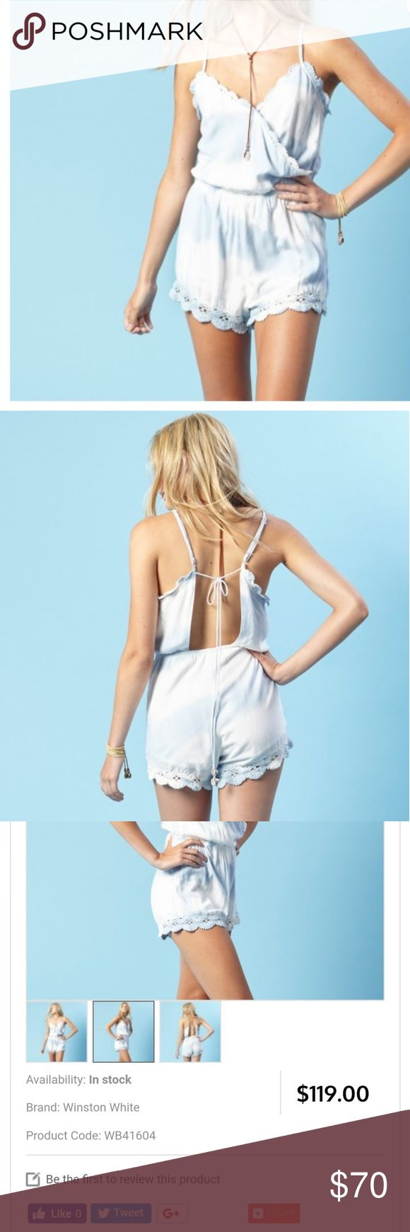 Blue life ..winston white cassie romper size M New with tag. winston white Pants Jumpsuits & Rompers