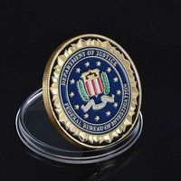US Department Of Justice US Federal Bureau Of Investigation Metal Coins Novelty Gold Plated Coins As A Gift