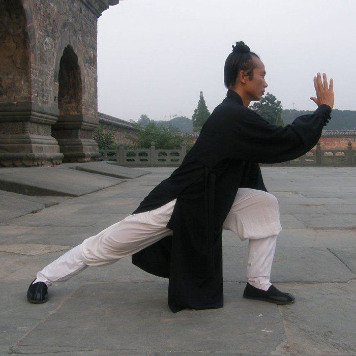 Black Traditional Taoist Hemp and Linen Wudang Tai Chi Uniform Closed Arms for Men and Women via Asia-Sale Best Tai Chi, Kung Fu Clothing