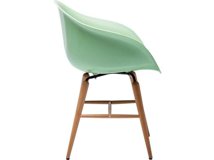 Kare design :: Krzesło z podłokietnikami Forum Wood - miętowe miętowy | MEBLE \ Krzesła | 9design Warszawa