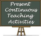 Teaching activities, worksheets and lessons about the present continuous tense.