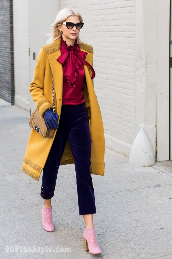 Street Style Inspiration Bold Color Blocking Style Autumn Winter Pinterest Bold Colors