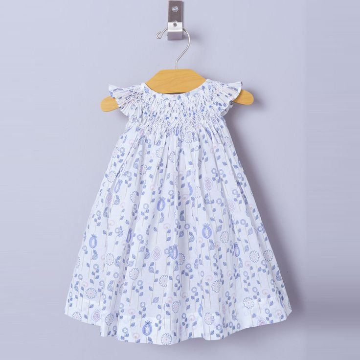 These Feather Baby dresses are truly stunning - all the smocking is done by hand ensuring an individual finish to each dress.