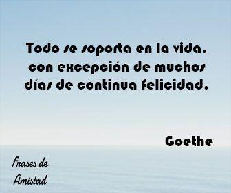 Frases Filosoficas De Felicidad De Goethe Frases Filosoficas Frases Frases De Amistad