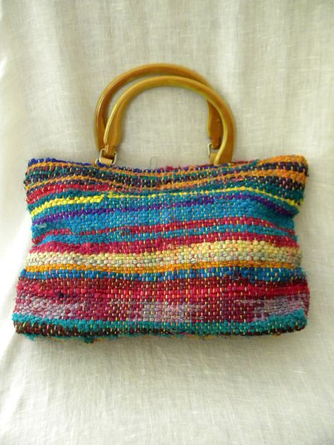 Handwoven Sari Silk Bag by DAYeWeaver on Etsy, $45.00