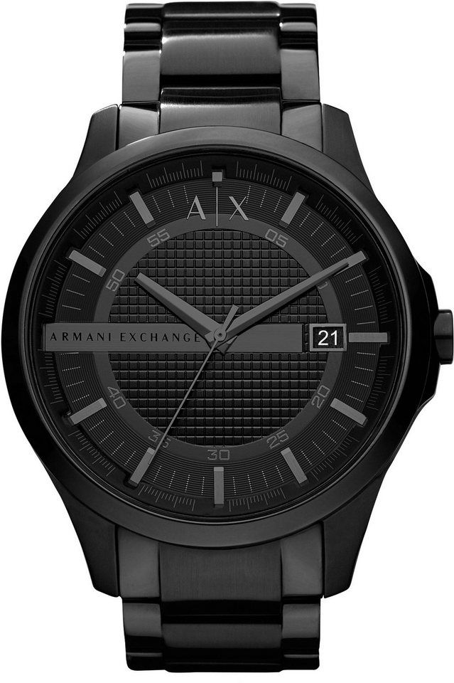 ARMANI EXCHANGE Quarzuhr »AX2104« für 189,00€. Trendige Herrenarmbanduhr, Edelstahlgehäuse, schwarz IP-beschichtet, Gehäuse-Ø ca. 46 mm bei OTTO