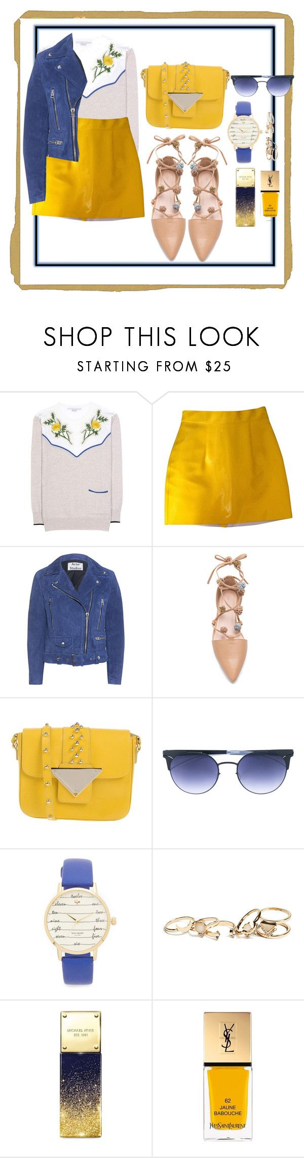 """Face Towards The Sun"" by tee-ray ❤ liked on Polyvore featuring STELLA McCARTNEY, American Apparel, Acne Studios, Loeffler Randall, Sara Battaglia, Mykita, Kate Spade, GUESS, Michael Kors and Yves Saint Laurent"