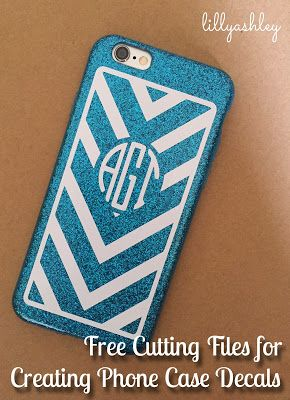 Diy Monogrammed Phone Case Decal With Free Cutting File