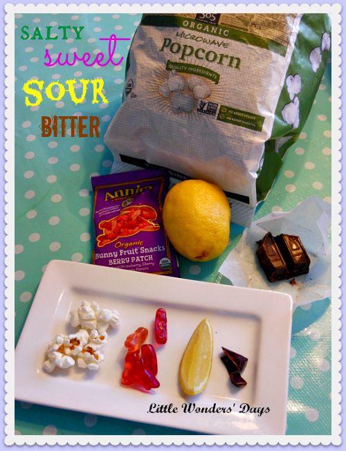 Snacks for five senses theme week via Little Wonders' Days - S week