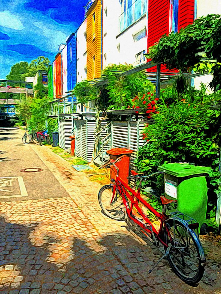 Stunning case budowanie pozytywnego wizerunku dzielnicy budowanie to samo ci Bonbon buntes Vauban FreiburgBuildingsCandyLive