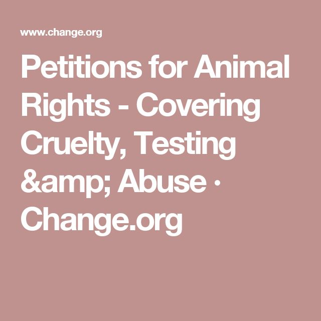 Petitions for Animal Rights - Covering Cruelty, Testing & Abuse · Change.org