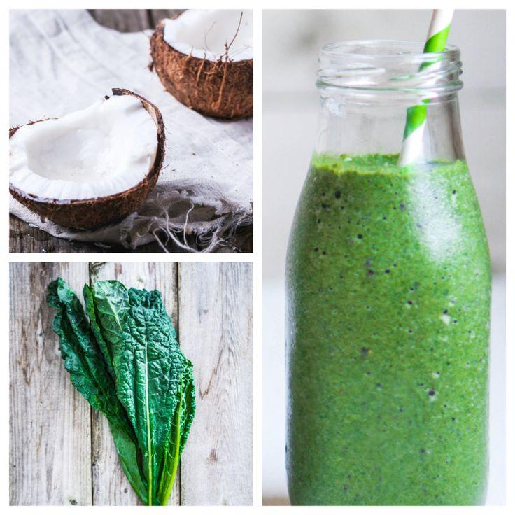 Kale Coconut Smoothie Smoothies, Nutritious smoothies