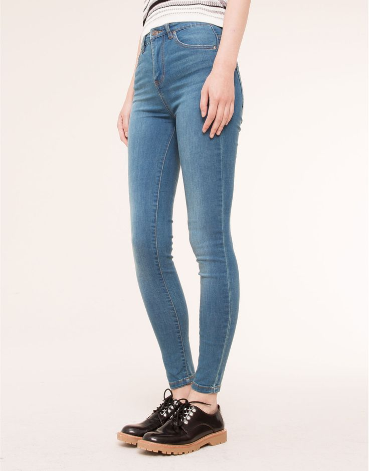 Super high waisted jeans pull and bear